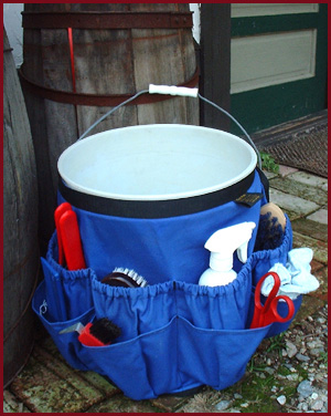 Equi-Belt attached to a 5 gallon bucket